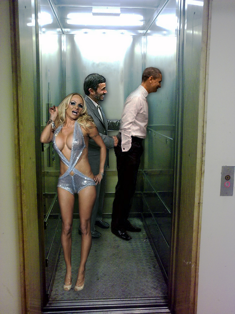 Pam The Office Obama,ahmadinejad and pam.