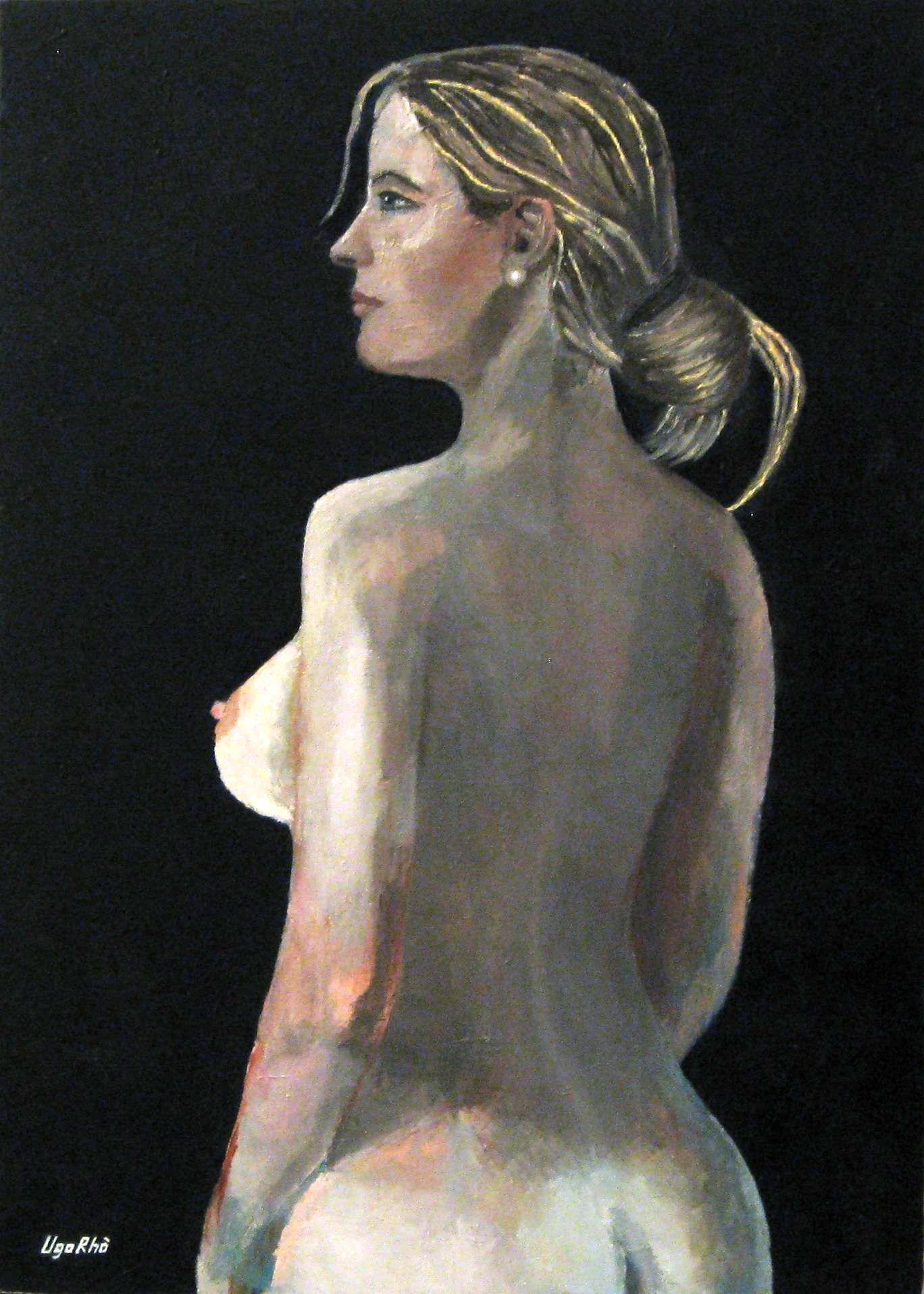 Painting Nude Oil (Ugo Rho - Roma Italy)