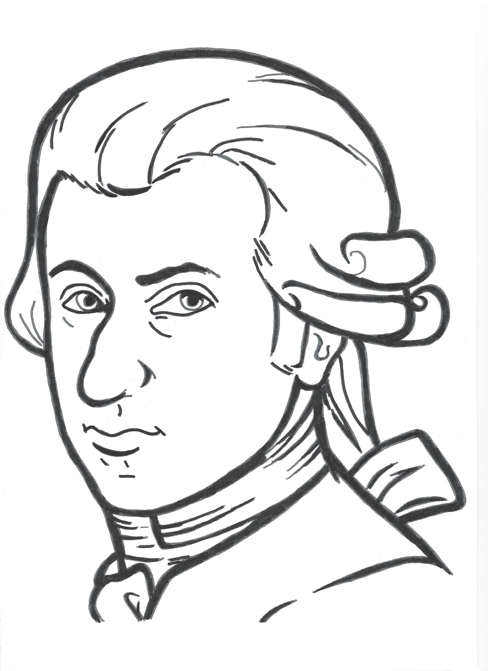 Ausmalbild Mozart