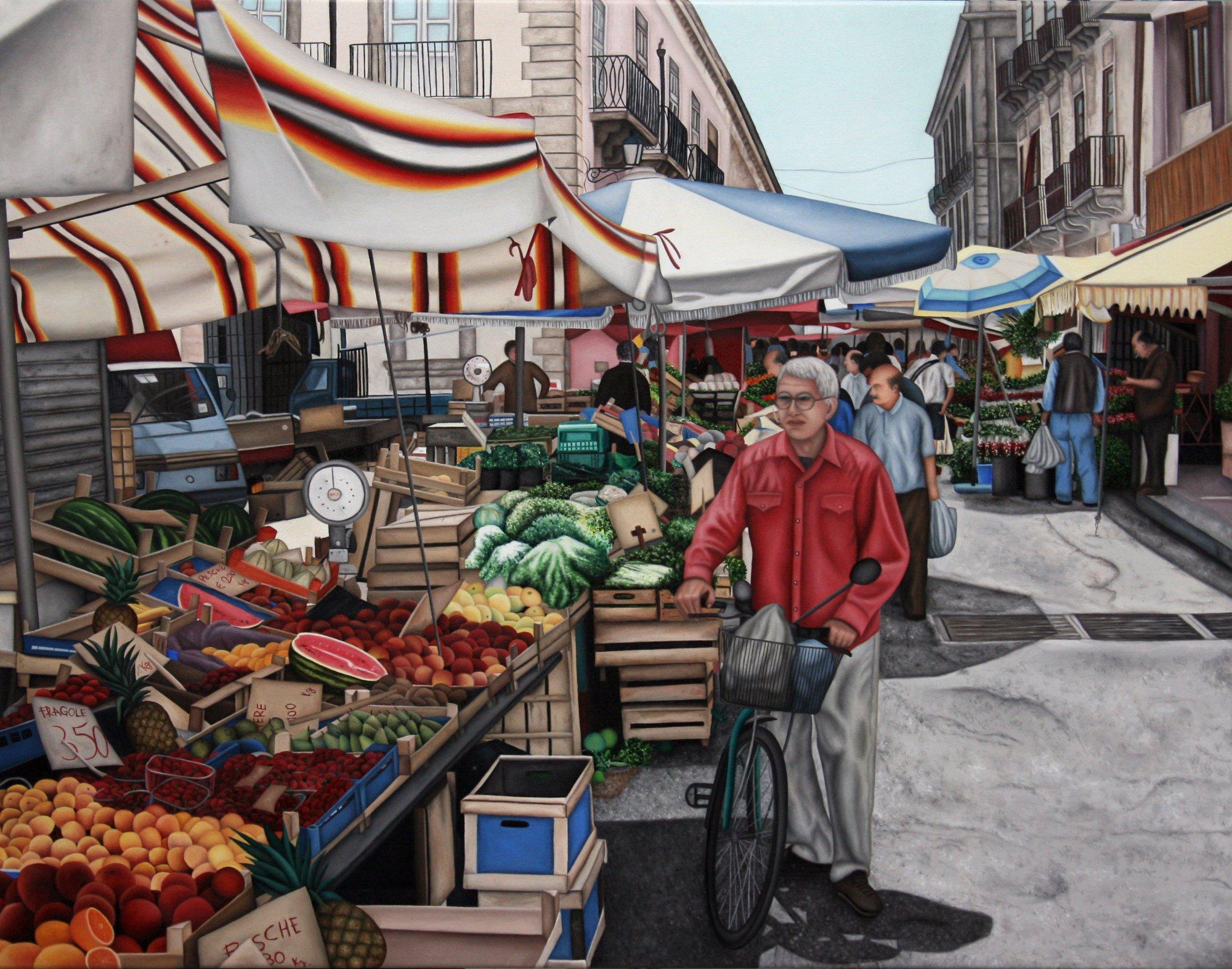 Mercato di ortiga valentina nicotra artwork celeste for Mercato frutta e verdura milano