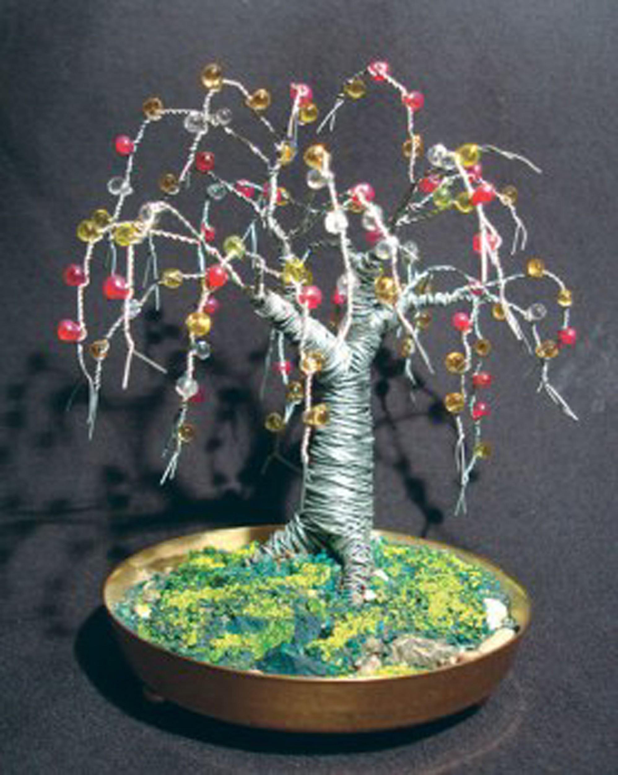 26 Gauge Wire >> BEADED OAK - Wire Tree Sculpture, by Sal Villano - Sal ...