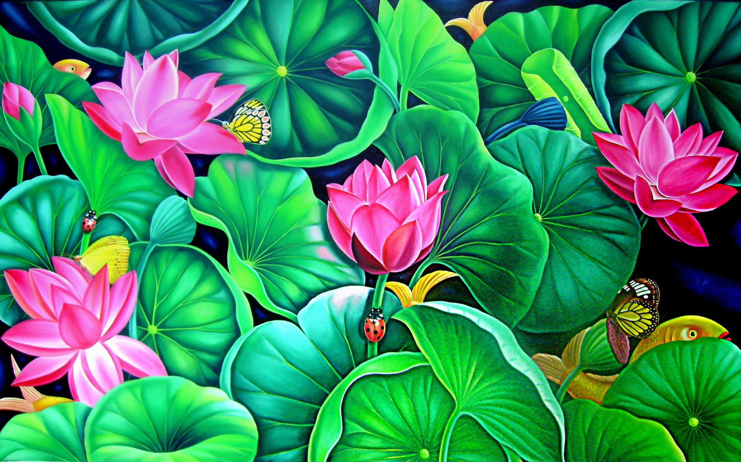 Lotus Murali Nagapuzha Artwork Celeste Network