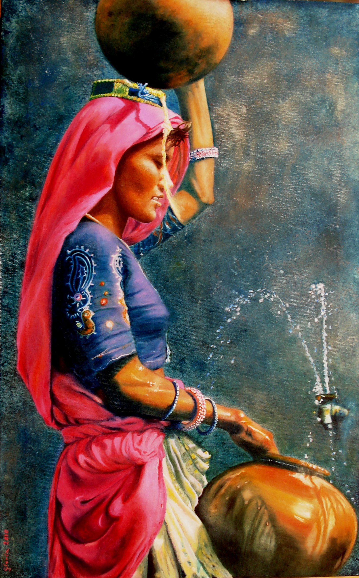 Rajasthan Portatrice Dacqua