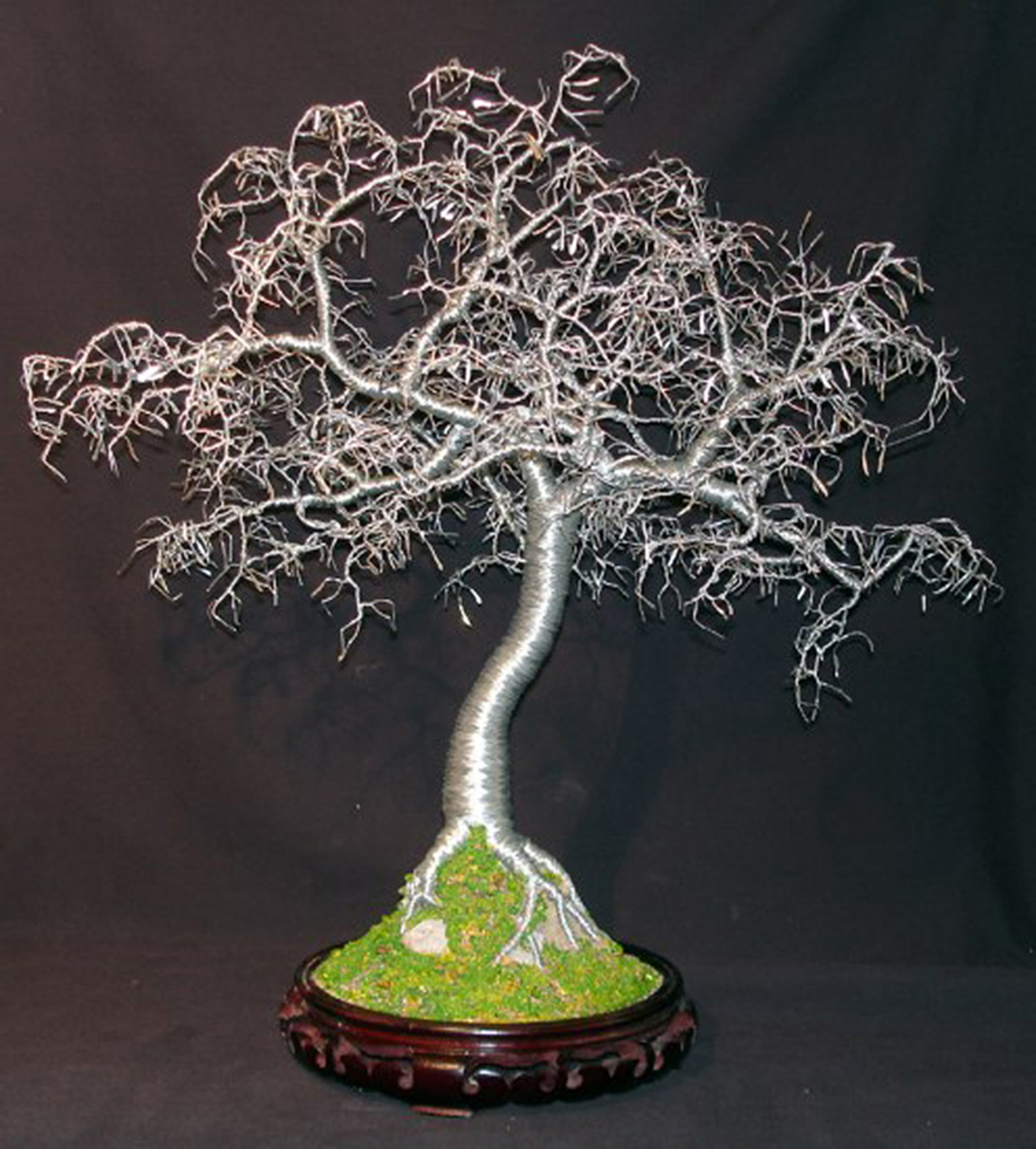 Hammered Leaves Bonsai Wire Tree Sculpture By Sal Villano What Does Wiring A Do