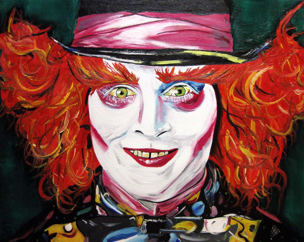 Johnny Depp as Mad Hatter - Angela Loennig - Artwork ... джонни депп фильмы