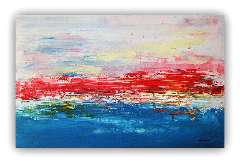 Quadri astratti moderni astratto paesaggio sanader art for Quadri moderni astratti dipinti a mano