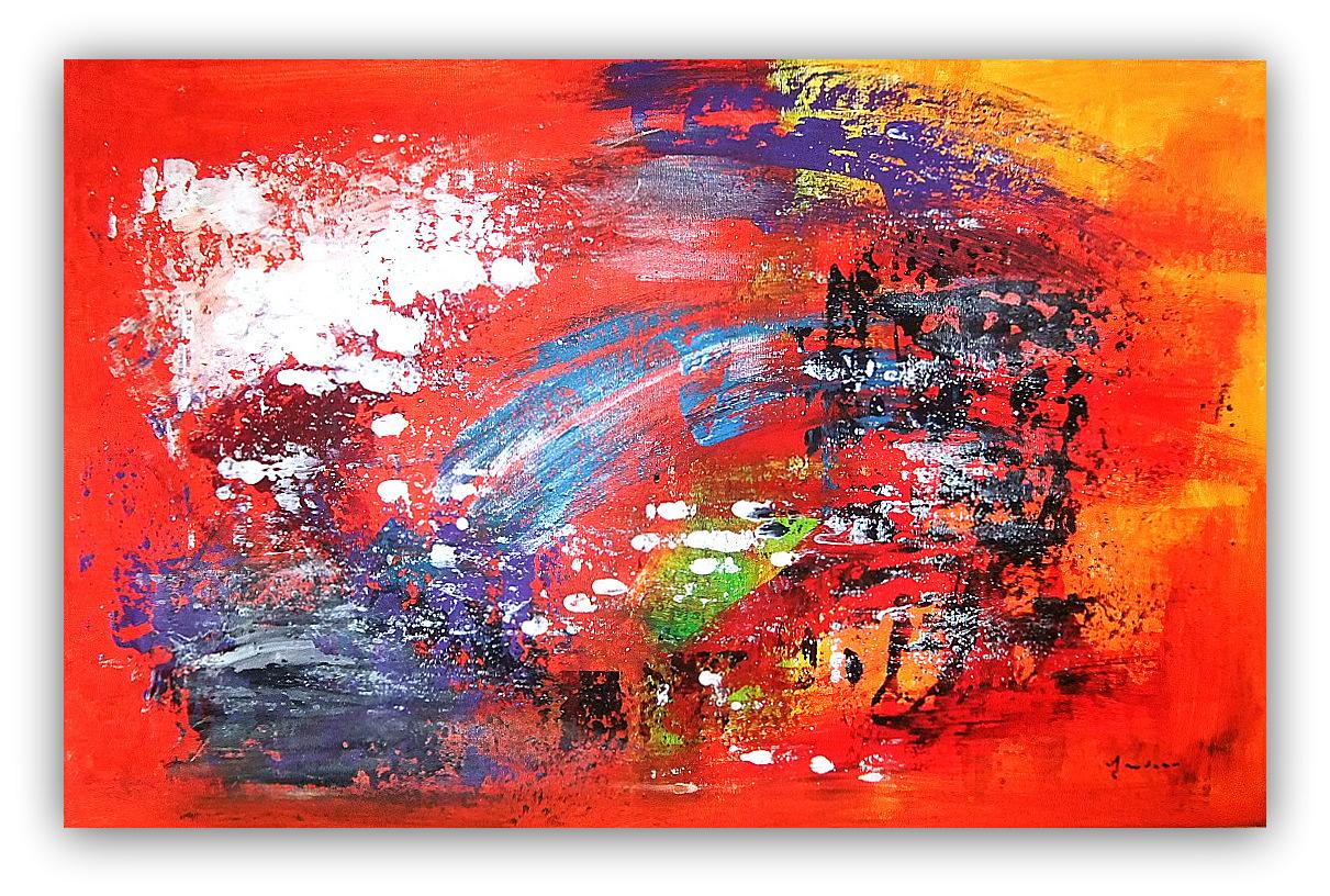 "Ben noto QUADRI ASTRATTI MODERNI ASTRATTO MODERNO "" SANADER ART "" PITURA  CD67"