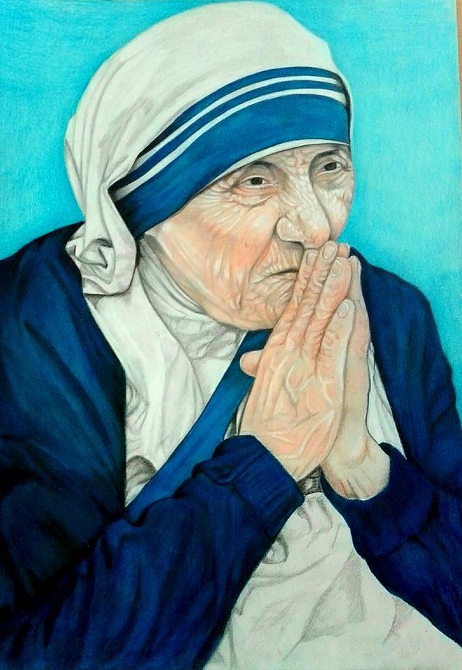 Madre Teresa Di Calcutta Pastello Su Cartoncino Per Pastelmat
