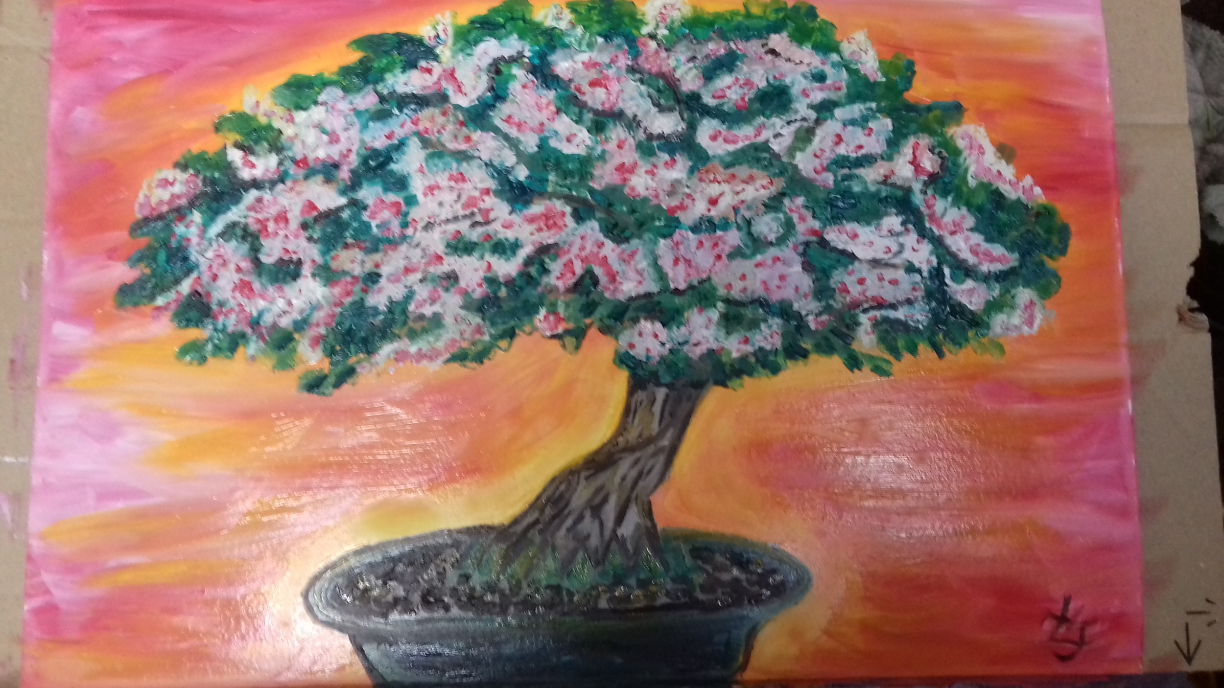 Bonsai Frankfurt fauvism bonsai tree vitality - louise nixon de valois - artwork