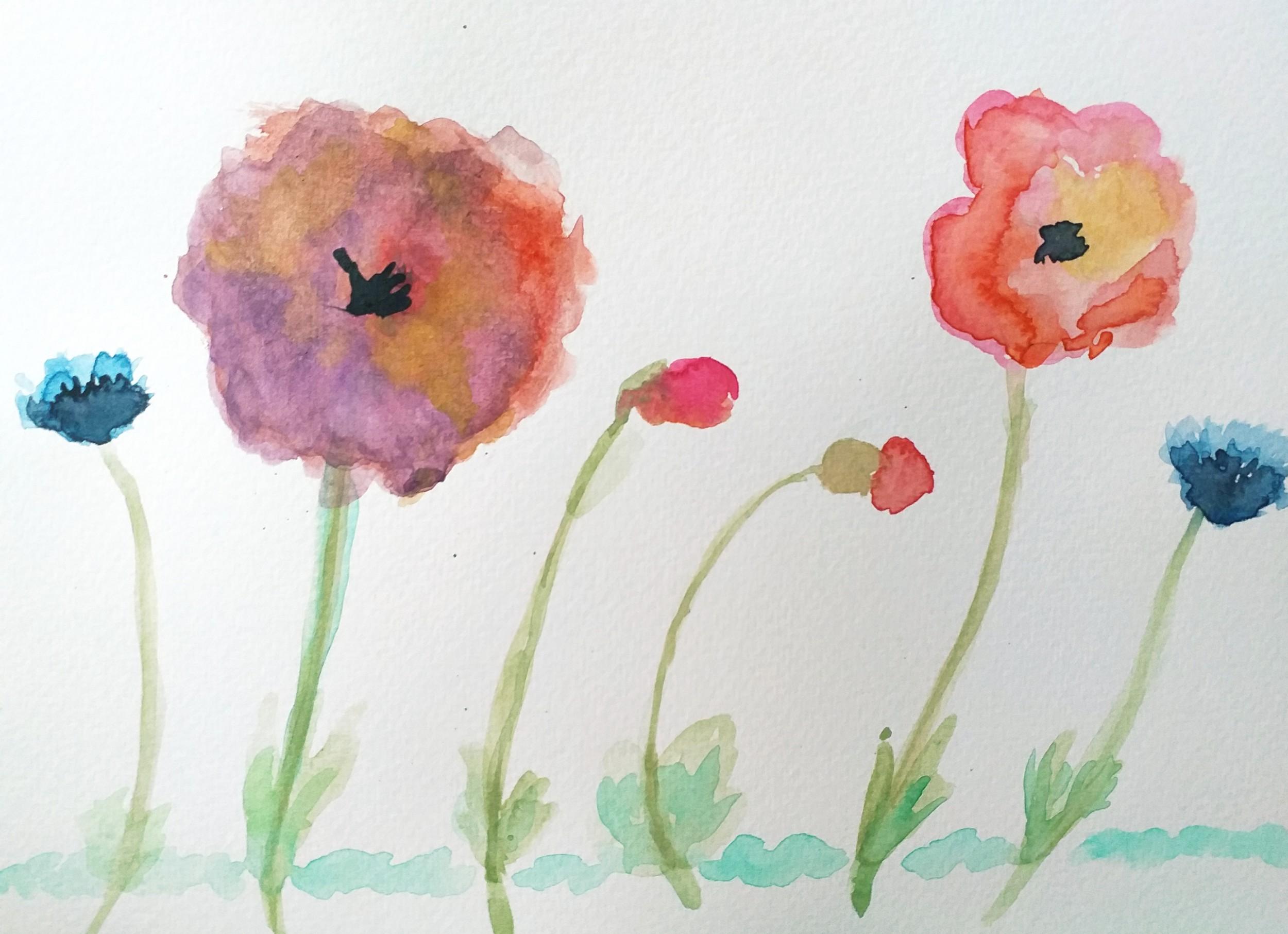 Fiori Acquerello.Prove Di Acquerello Fiori Diane Bonjour Artwork Celeste Network