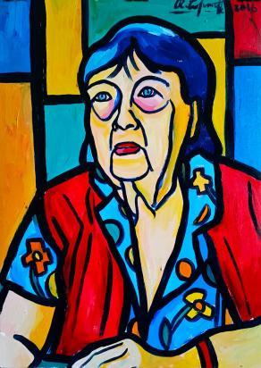 Ritratto di mia nonna, la pittrice Ada Barsalini - Portrait of my Grandma, painter Ada Barsalini
