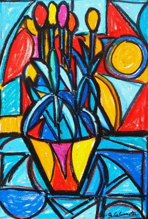 Vaso di tulipani - Vase of tulips