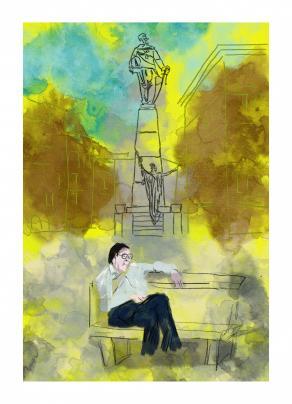 monumento in giallo