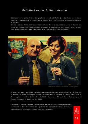 Eliana Calò - Pubblicazione su Rivista EuroArte Set-Ott - Nov 2016 (Pag.1)