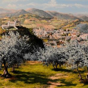 Spoleto tra gli olivi