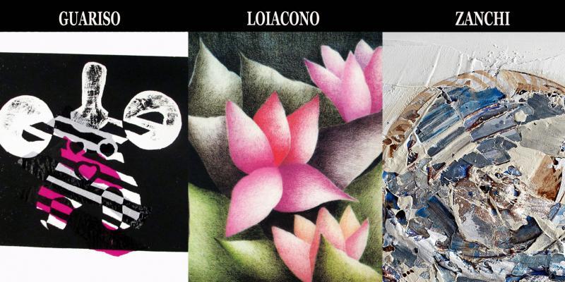 Solo exhibition of F.Guariso, Loiacono L. and A. Zanchi presentation by Giorgio Grasso