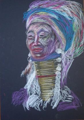 Ritratto di donna dal collo lungo