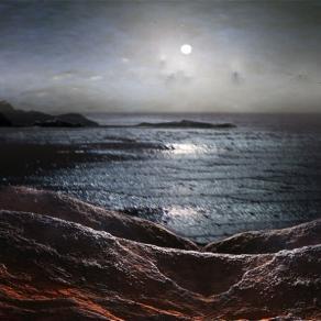 Luna piena sul Mediterraneo