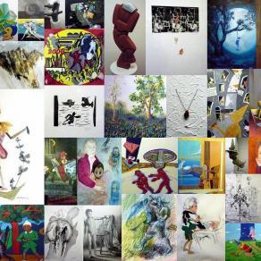 """Collage di Opere tratte dalla Mostra Collettiva """"Pinocchio"""" degli Artisti Gruppo Donatello (Novembre"""