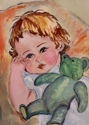 Bambino nella culla