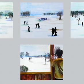 People Arriving Series /4 paintings/