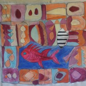 Il grande affresco del pesce rosso