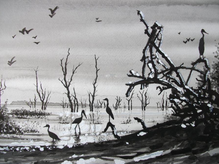 Dawn at Lake Kariba (detail)
