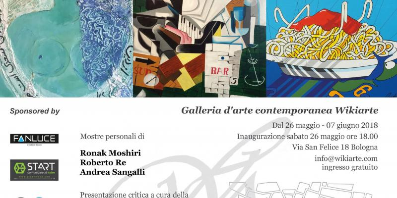 Personal exhibitions by Ronak Moshiri, Roberto Re and Andrea Sangalli presents Dr. Denitza Nedkova