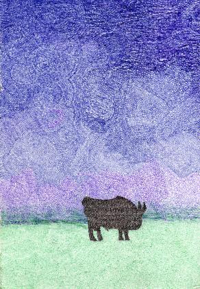 Paesaggio con toro