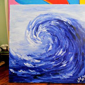 l'onda che irrompe