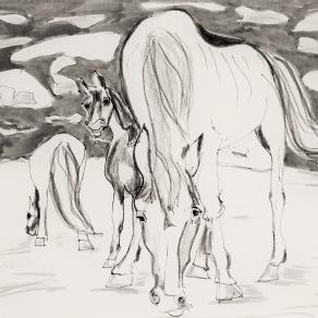 Horses out there. by Fritzsch Anneliese