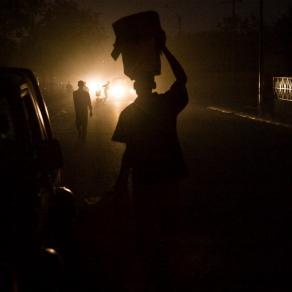 street life in night time