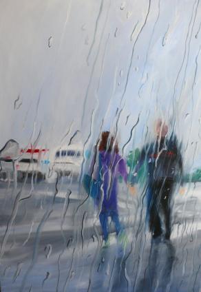 Trough the rain