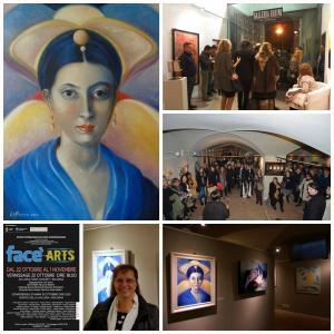 Opera esposta all'evento Face'Arts  Bologna 2016