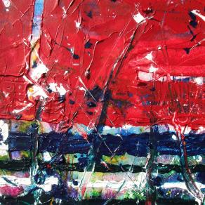 'Red colourfields' (study; detail)