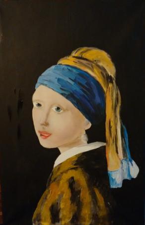 LA RAGAZZA CON L'ORECCHINO DI PERLA copia da Vermeer