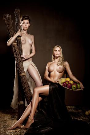 Women in Barn