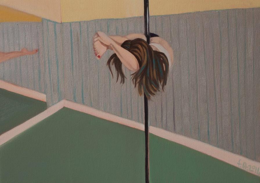 pole dancer -mirror