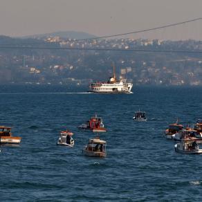 Fishermen over the Bosphorus, Istanbul