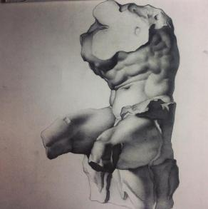 Torso del Belvedere ( from C. Bargue drawing)