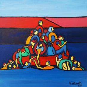 La zattera della salvezza (ciclo del Naufragio, opera 1) - The raft of the safety (Shipwreck cycle, work 1)