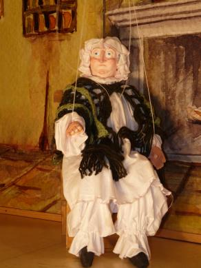 Grandmother (Little red Cap, marionettes exhibition)