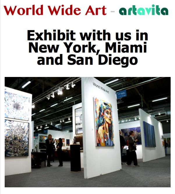 Exhibit with us in New York, Miami and San Diego