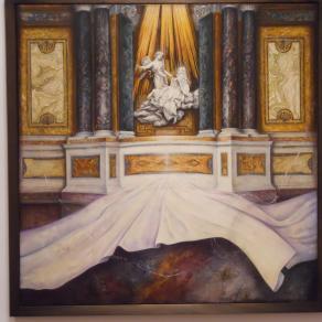 Visione di fronte all'estasi di Santa Teresa