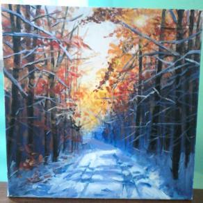 Forest lane in winter
