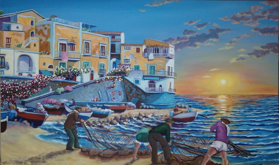 sciabica sulla costa amalfitana