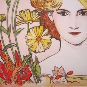 copia d'autore dipinto con pittura ad acquerello