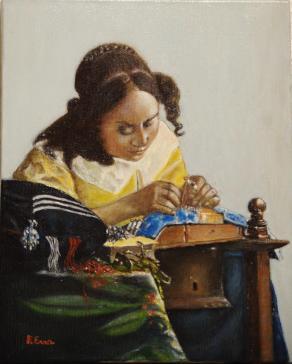 "Copia da Vermeer:  ""La Merlettaia"""