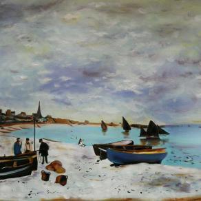 The Beach at Sainte-Adresse, 1867