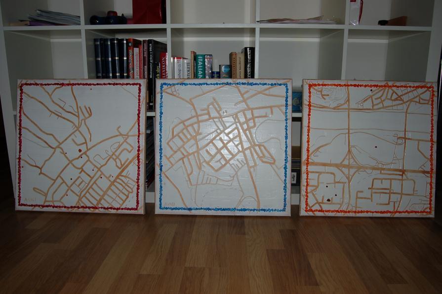 Little Trio Maps, in progress 2